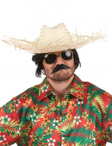 Cappello di paglia Hawaii per adulto-1