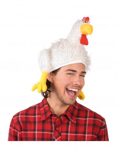 Cappello gallo bianco