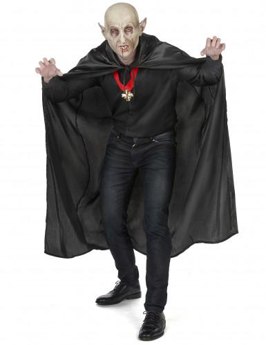 Mantello nero da Vampiro per adulto Halloween-4