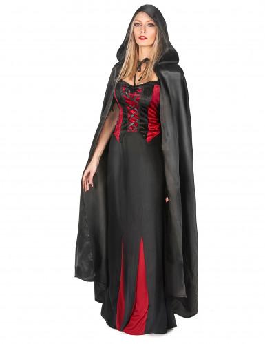 Mantello nero da Vampiro per adulto Halloween-1