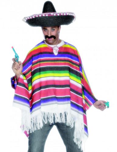 Poncho messicano multicolor da uomo