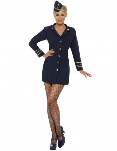 Travestimento per donna hostess aereo sexy