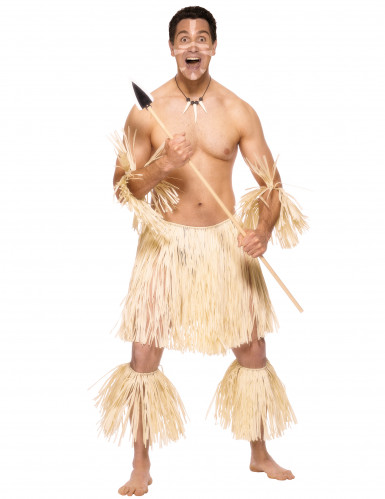 Travestimento per uomo da combattente Zulu