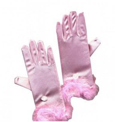 Guanti rosa da bambina
