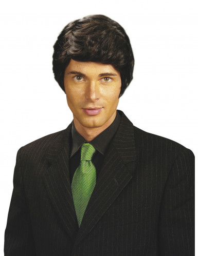 Parrucca nera da uomo