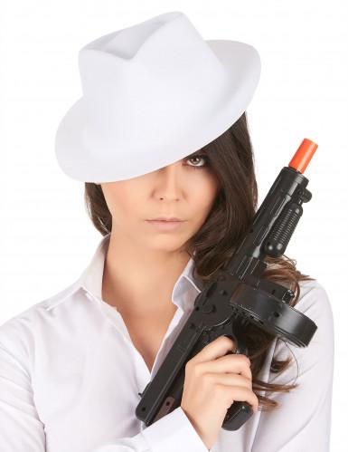 Cappello bianco da gangster per adulti-1