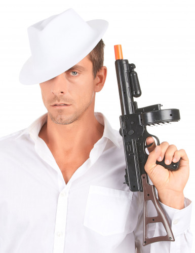 Cappello bianco da gangster per adulti-2