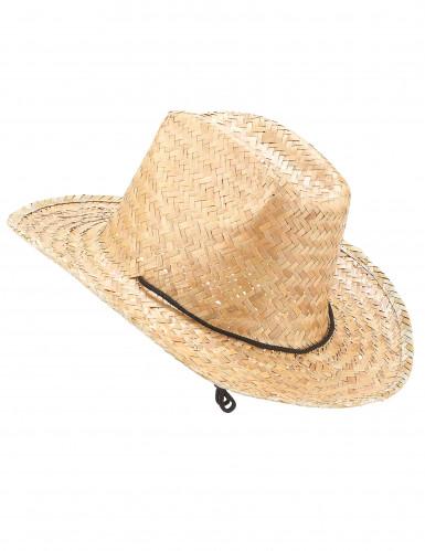 Cappello di paglia cowboy adulto