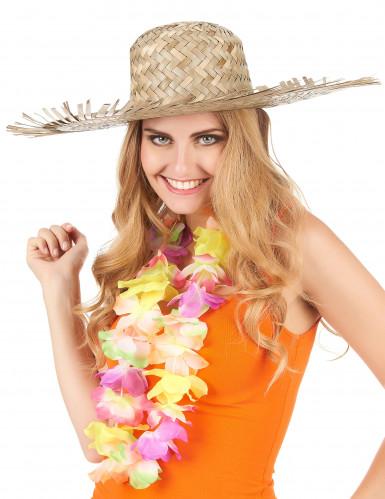 Cappello di paglia adulto in stile Hawaii-2