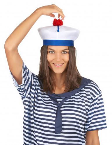 Cappello da marinaio per adulti con pompom-2