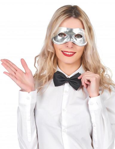 Mascherina color argento adulto