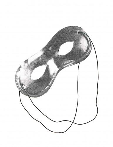 Mascherina color argento adulto-1