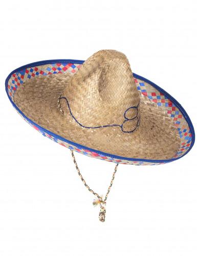Cappello di paglia stile messicano da adulto-3