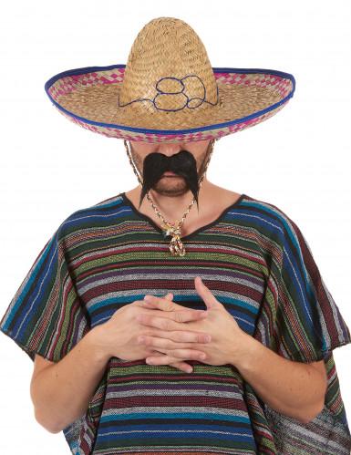 Cappello di paglia stile messicano da adulto-5