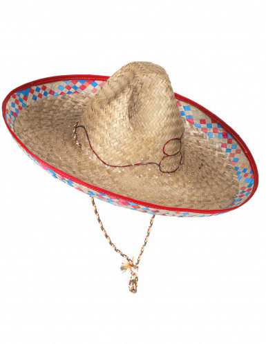 Cappello di paglia stile messicano da adulto-2