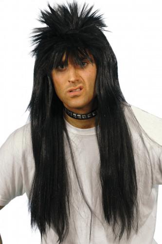 Parrucca nera uomo punk