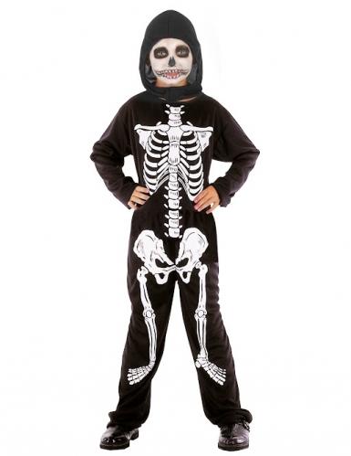 Costume da scheletro per Halloween da bambino