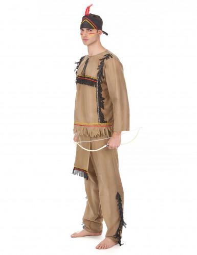 Costume marrone da indiano per uomo-1