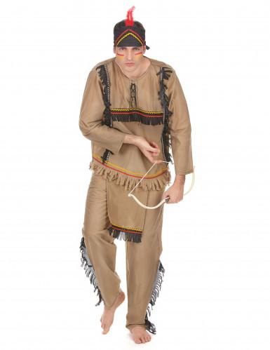 Costume marrone da indiano per uomo