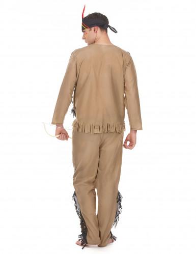 Costume marrone da indiano per uomo-2