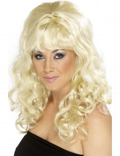 Parrucca ondulata bionda da donna