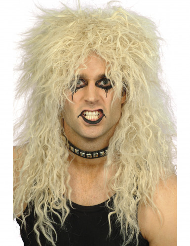 Parrucca hard rocker capelli ricci
