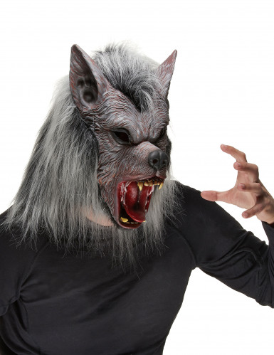 Maschera da lupo mannaro in lattice Halloween