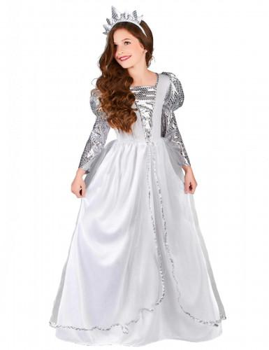Costume principessa argentata per bambina