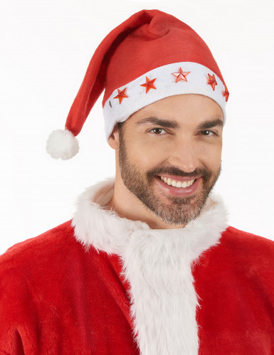 Berretto luminoso bianco e rosso da Babbo Natale-2