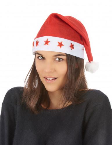 Berretto luminoso bianco e rosso da Babbo Natale-1