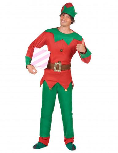 Costume da elfo natalizio per uomo