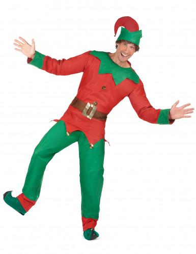 Costume da elfo natalizio per uomo-1