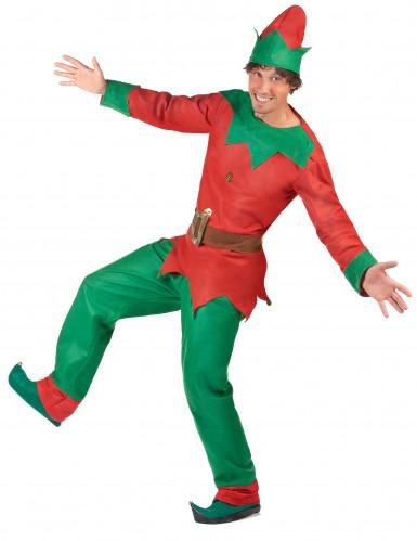 Costume da elfo natalizio per uomo-2