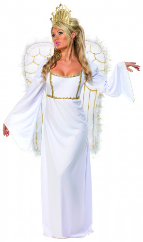 Costume per donna da angelo del bianco Natale