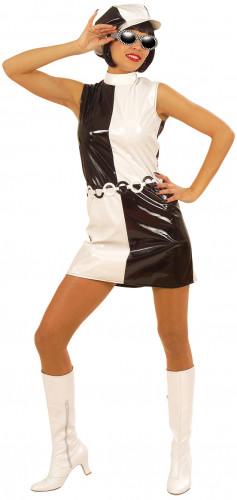 Costume donna stile anni'60 bianco e nero