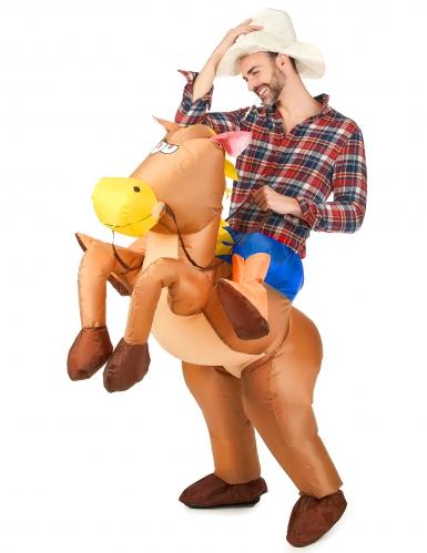 Costume da cavallo gonfiabile per adulto