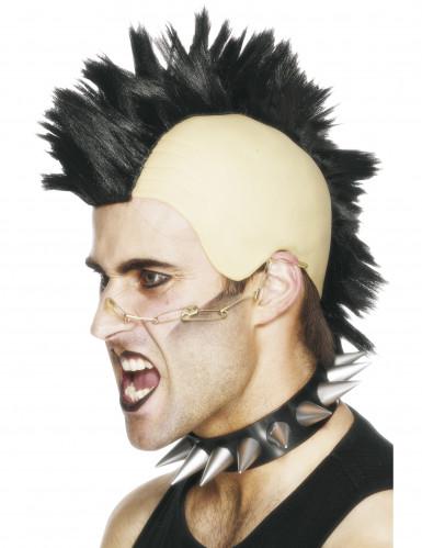 Parrucca con cresta punk per uomo