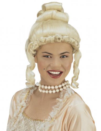 Parrucca donna bionda da contessa