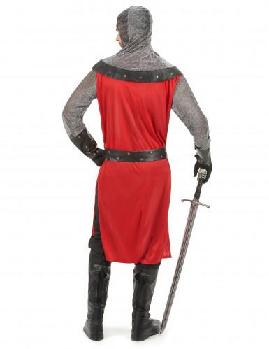 Costume rosso da cavaliere medievale da adulto-2