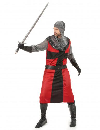 Costume rosso da cavaliere medievale da adulto-1