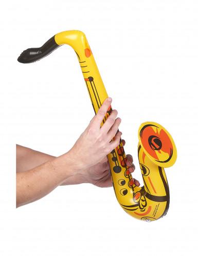 Saxofono gonfiabile di colore giallo-1