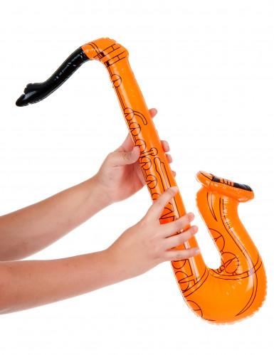 Saxofono arancione gonfiabile-1