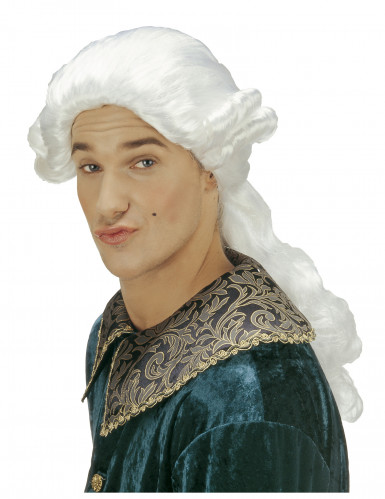 Parrucca bianca da marchese per uomo