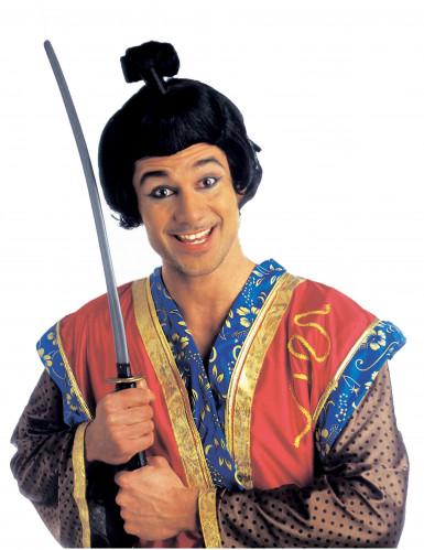 Parrucca corta in stile samurai uomo