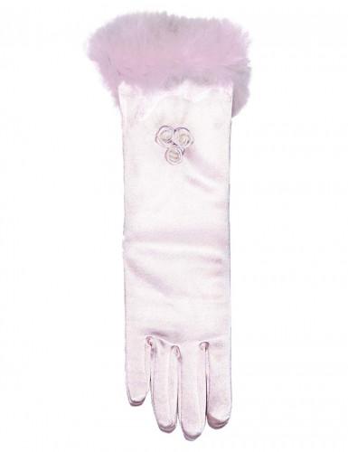 Guanti rosa da principessa per bambina