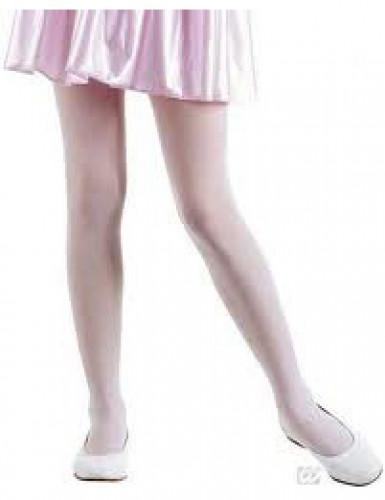 Collant color rosa opaco bambina