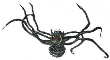 Ragno nero gigantesco per Halloween