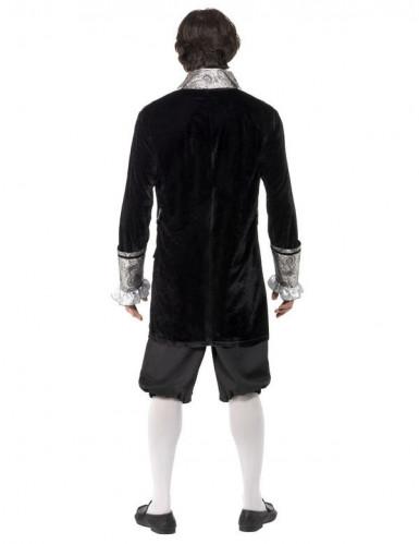 Costume barocco nero ed argento per adulto-1