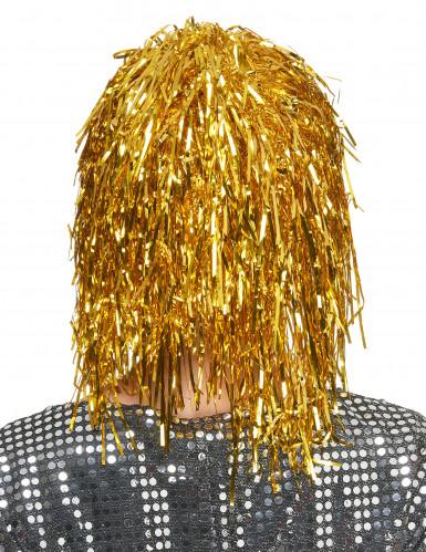 Parrucca color oro metallizzato per adulto-1