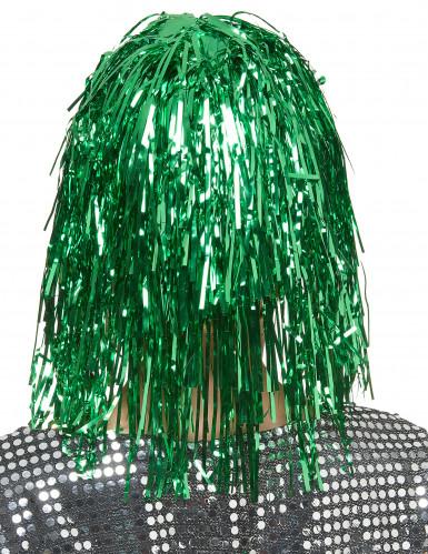 Parrucca verde metallizzato per donna-1